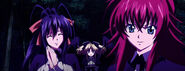 Rias and Akeno about to fight the three fallen angels