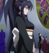 Akeno kimono attire at young devil gathering