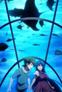 Issei and Akeno at the Aquarium