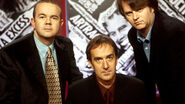 Ian Hislop, Angus Deayton and Paul Merton