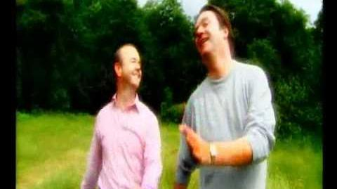HIGNFY - Ian Hislop and Paul Merton skip through a field