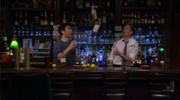 Three days of snow - ted and barney tend bar