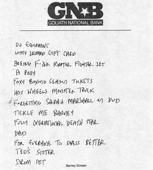 Letter barney