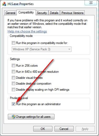 Windows7 Run as Admin1