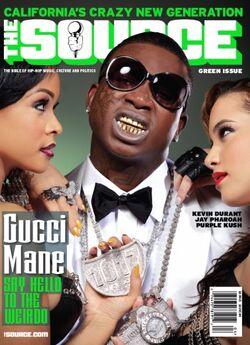 MAGAZINE COVER Gucci Mane The Source (April 2011)-1-