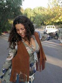 Hippie girl fringe