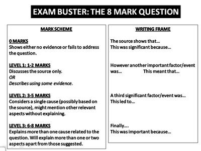 standard grade history 8 mark essay questions