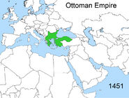 Territorial changes of the Ottoman Empire 1451