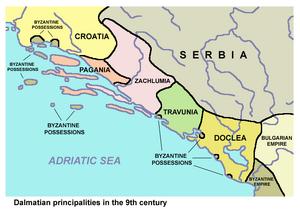 Pagania, Zahumlje, Travunia, Duklja