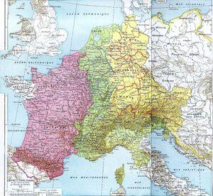 East Francia-Middle Francia-West Francia-843