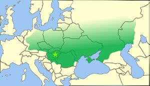 Hunnic empire-450AD