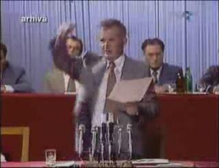Ceausescu rants 1984 speech