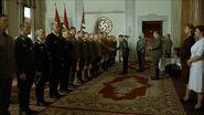 Hitler greets officers