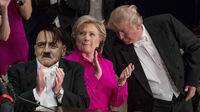 Hitler Clinton Trump Al Smith Dinner