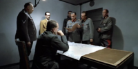 Hitler and his generals receive telegram from Keitel
