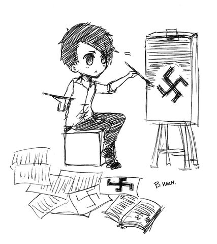 File:Hitler Drawing Swastika.jpg