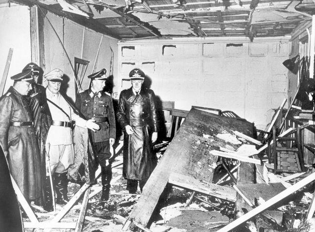 File:GoeringAndBormannInspectHitlerExplosion.jpg