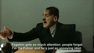 Hitler is informed about the Royal Wedding
