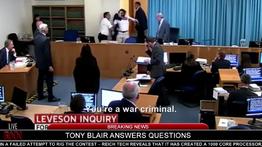 Hitler heckles Tony Blair