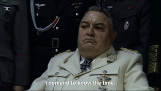 Hitler asks Göring What's the time