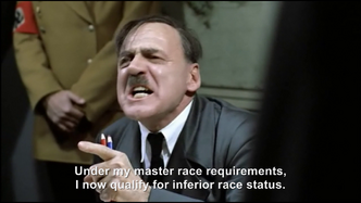 Hitler is informed about his Jewish and African ancestry