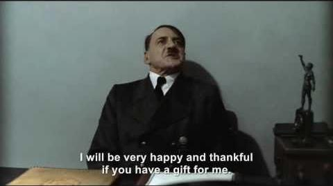 Hitler is wished a Happy Thanksgiving