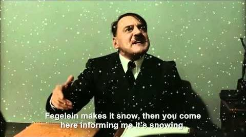 Hitler is informed it's snowing