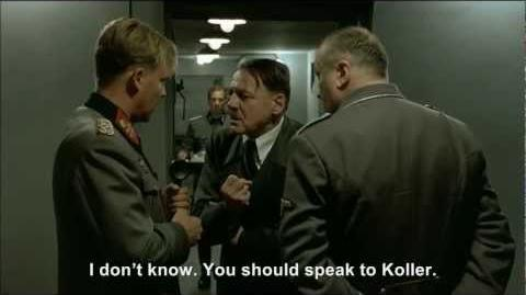Hitler tries to convince Koller that Hitler is Hitler