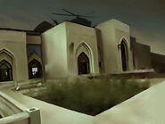 Concept art of the Nuristan Rebel compound