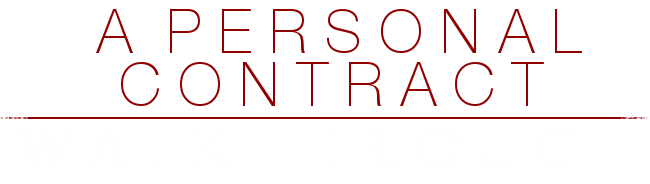 A Personal Contract Walkthrough Banner