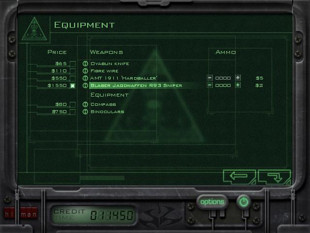 C47 Mission 2 Equipment