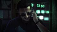 Skurky answering Dexter's phone