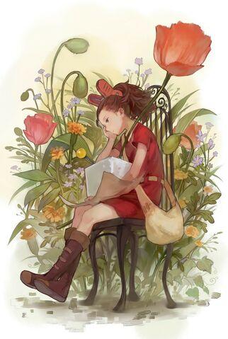 File:Flowers artwork anime anime girls arrietty ghibli 1143x1700 wallpaper www.wallmay.net 47.jpg