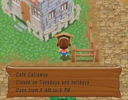 Cafe Callaway Hours MM