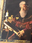 Unidentified Headmaster with Scroll