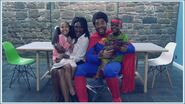 Simone Loveday with her husband Louis and her kids zack and lisa