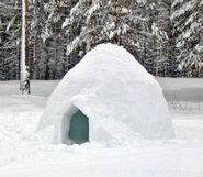 Igloo outside