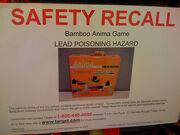 Bamboo anima = lead poisoning
