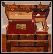 Antique Trunk Table by Mark Rixon Cerny - Open View