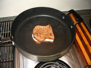 On the pan