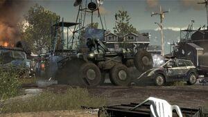 Goliath crushing car