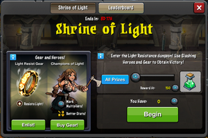 Event Shrine of Light window