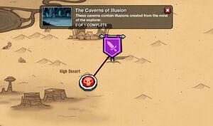 The Caverns of Illusion - map