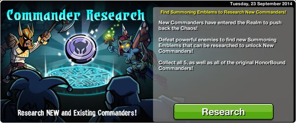 Commander Research