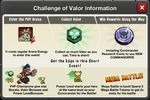 Challenge of Valor rules