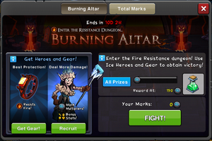 Event Burning Altar window