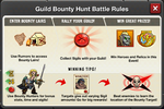Event Guild Bounty Hunt rules