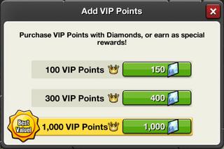 VIP Points Price