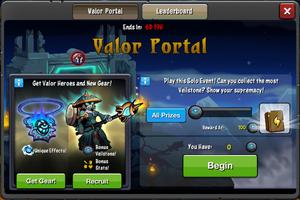 Event Valor Portal window