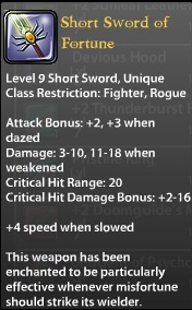 Short Sword of Fortune